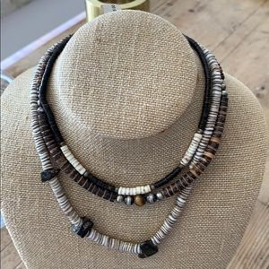 African beaded necklaces. All natural stones